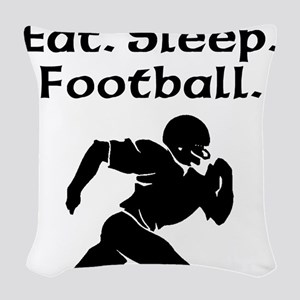 Eat Sleep Football Woven Throw Pillow
