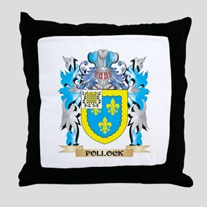 Pollock Coat of Arms - Family Crest Throw Pillow