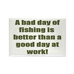 Bad Fishing day Rectangle Magnet (10 pack)