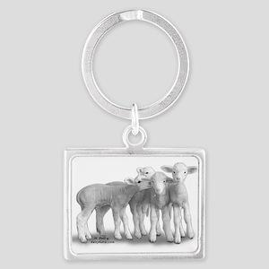 Whisper Lambs Sheep Keyring Keychains