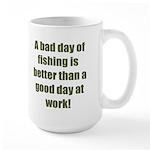 Bad Fishing day Large Mug