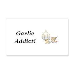 Garlic Addict Car Magnet 20 x 12