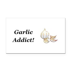 Garlic Addict Rectangle Car Magnet