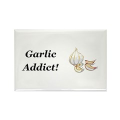 Garlic Addict Rectangle Magnet