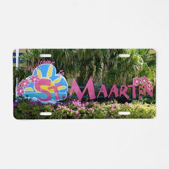 St. Maarten sign Aluminum License Plate