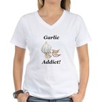 Garlic Addict Women's V-Neck T-Shirt