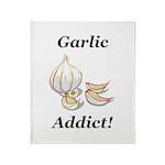 Garlic Addict Throw Blanket