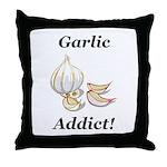 Garlic Addict Throw Pillow