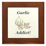 Garlic Addict Framed Tile