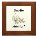 Garlic Addict Framed Tile