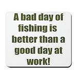 Bad Fishing day Mousepad