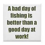 Bad Fishing day Tile Coaster