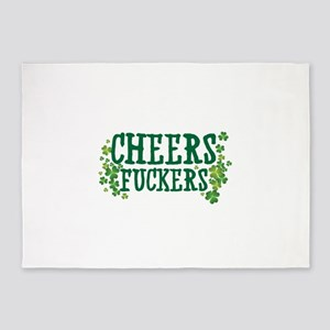 Cheers Fuckers 5'x7'Area Rug