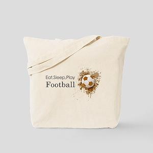 Eat sleep play football Tote Bag