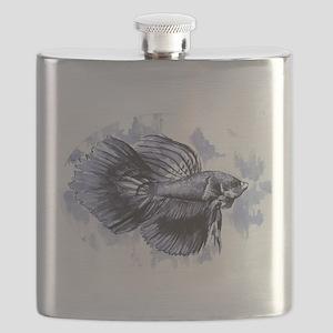 Blue Betta Fish Flask