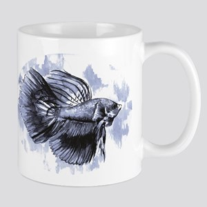 Blue Betta Fish Mugs