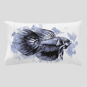Blue Betta Fish Pillow Case