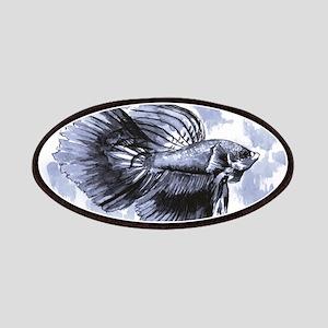 Blue Betta Fish Patch