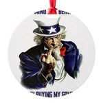 Uncle Sam Flipping The Bird Ornament