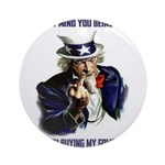 Uncle Sam Flipping The Bird Ornament (Round)