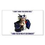 Uncle Sam Flipping The Bird Sticker