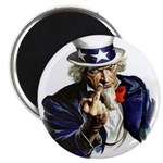 Uncle Sam Flipping The Bird Magnets