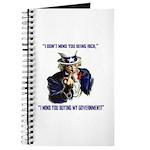 Uncle Sam Flipping The Bird Journal