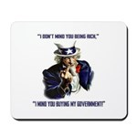 Uncle Sam Flipping The Bird Mousepad