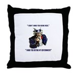 Uncle Sam Flipping The Bird Throw Pillow