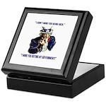 Uncle Sam Flipping The Bird Keepsake Box