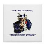 Uncle Sam Flipping The Bird Tile Coaster