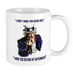 Uncle Sam Flipping The Bird Mugs