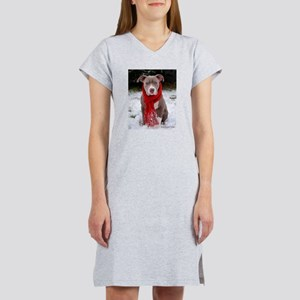 Winter Pit Bull T-Shirt