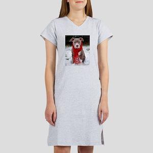 Winter Pit Bull T-Shirt
