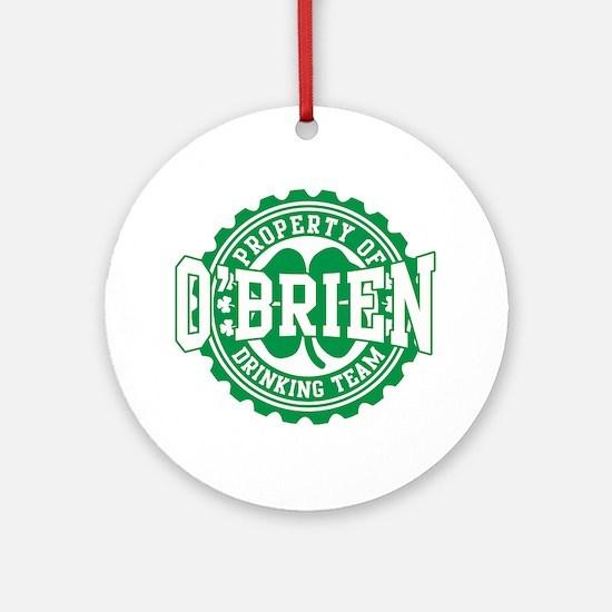 o'brien irish drinking team Ornament (Round)