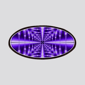 Trippy Purple Plaid Patch