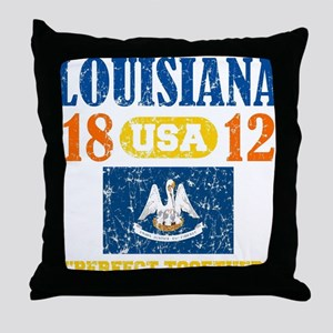 "LOUISIANA / USA 1812 STATEHOOD ""PERFE Throw Pillow"
