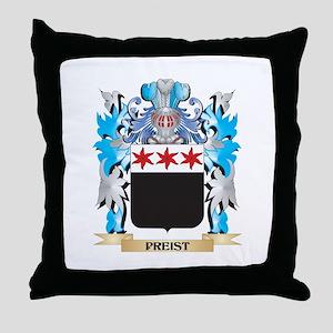 Preist Coat of Arms - Family Crest Throw Pillow