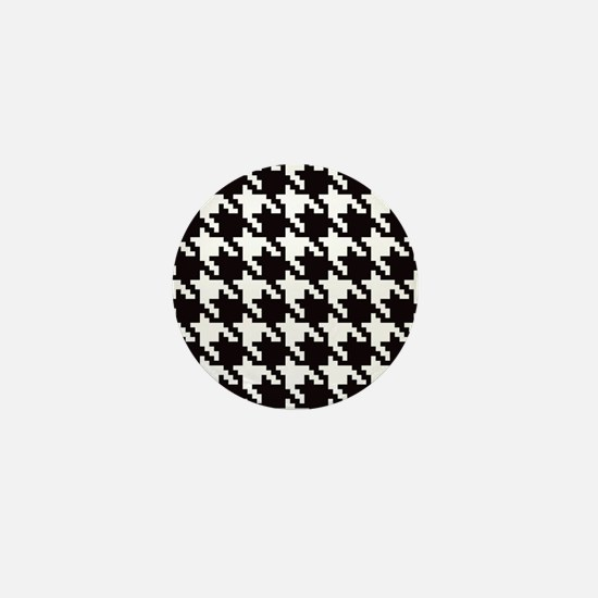 Classic Houndstooth Mini Button