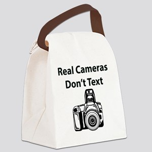 Real Cameras Don't Text Canvas Lunch Bag
