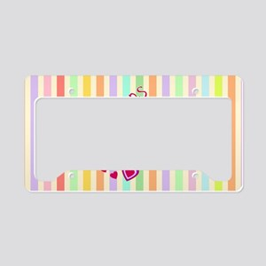 Lollipop Love License Plate Holder