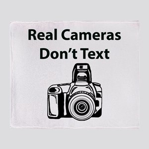 Real Cameras Don't Text Throw Blanket