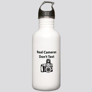 Real Cameras Don't Tex Stainless Water Bottle 1.0L