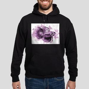 Purple Betta Fish Hoodie