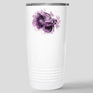 Purple Betta Fish Travel Mug