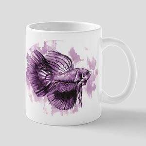 Purple Betta Fish Mugs