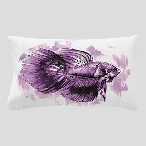 Purple Betta Fish Pillow Case