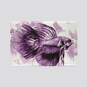 Purple Betta Fish Magnets
