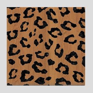 SKIN5 BLACK MARBLE & LIGHT MAPLE WOOD Tile Coaster