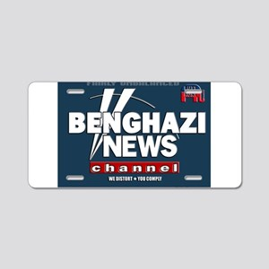 Benghazi News Channel Aluminum License Plate